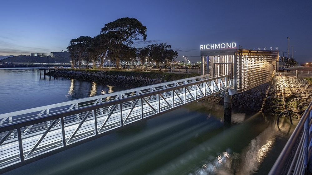 LED Lighting at Richmond Ferry