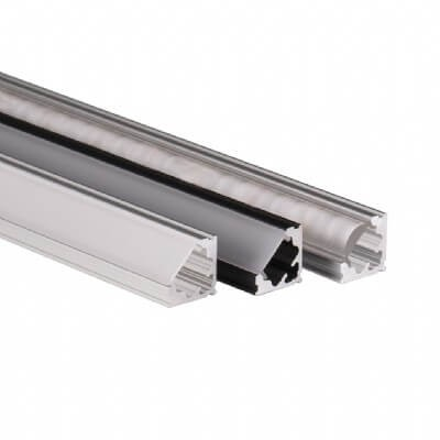 VEVE - 45-degree angled corner LED aluminum extrusion