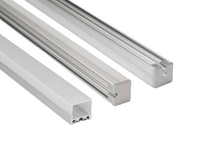 TRE3 - Three-sided lens LED aluminum extrusion